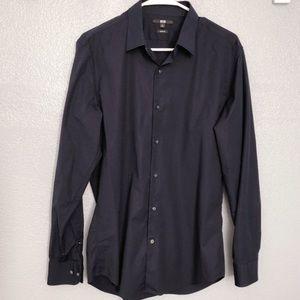 Uniqlo Slim Fit Long-Sleeve Shirt sz M